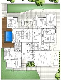 modern single story house plans big family home floor plan with amazing high ceilings raking