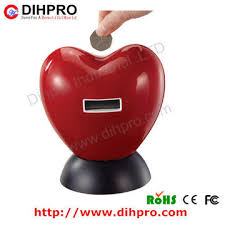 heart shaped piggy bank digital counting plastic heart shape coin bank money box money