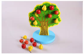 montessori apple fruit arbol activities game playing learning