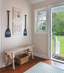 hallway paint colors entry beach style with white window trim