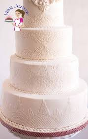 lace wedding cakes lotus inspired lace white wedding cake veena azmanov