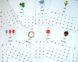 2018 easel desk calendar desk calendar etsy