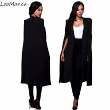 women blazers and jackets 2017 new long blazers for ladies cape