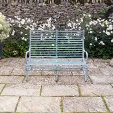 Aluminium Garden Chairs Uk Buy Verdigris Roll Top Garden Bench U2013 2 Seater Burford Garden