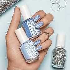 essie snowfall sparkle nail art design by essie