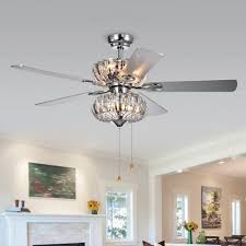 ceiling fan with grey blades warehouse of tiffany kyana 6 light crystal 5 blade 52 inch chrome