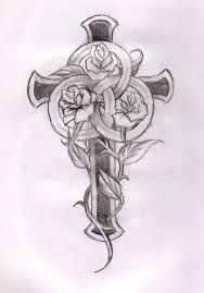 cross and designs cross and roses cross tattoos for