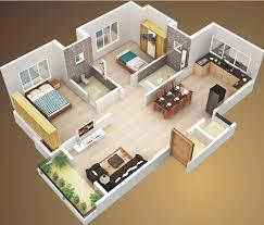 Simple House Plan With 2 Bedrooms Bedroom D Floor S Home Interior