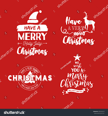 quote happy christmas merry christmas text quote collection calligraphy stock vector