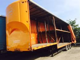 1993 tinsley step frame double deck curtain side trailer
