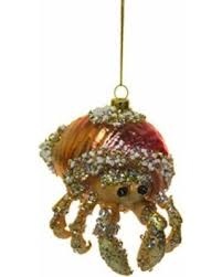 deal alert 4 bedazzled hermit crab blown glass ornament