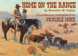 home on the range u201d by brewster m higley a ukulele chord