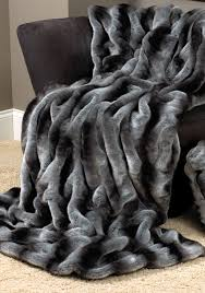 throws and blankets for sofas decor tips grey chinchilla couturefaux fur throw blankets for