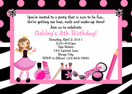 Invitation Birthday Party Card Staggering Spa Birthday Party Invitations Trends Theruntime Com
