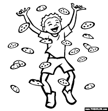 The Chocolate Chip Cookie Coloring Page Free The Chocolate Chip Coloring Cookies