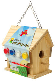 amazon com toysmith paint a birdhouse kit bird houses toys