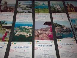 lot 17 vintage photo calendars cards germany monte carlo japan