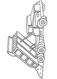 dump truck coloring pages unloading coloringstar