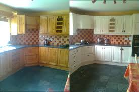 Painted Kitchen Cabinets Before After Painting Kitchen Cabinets Cork Painters For Professional Painting