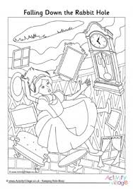 mad hatters tea party colouring