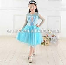 Elsa Costume Princess Frozen Queen Elsa Costume Cosplay Tulle Girls Dresses