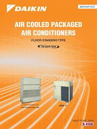 air cooled packaged inverter floor standing type heat pump