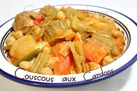 cuisiner des cardes couscous aux cardons seksou n taga recettes faciles recettes