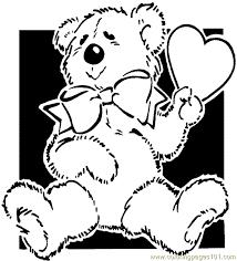 teddy bear coloring 001 2 coloring free