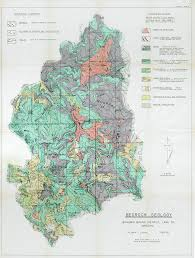 Uofa Map Geology Of The Bohemia Mining District Lane County Oregon The