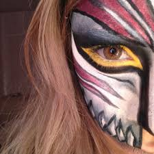 bleach hollow mask halloween makeup tutorial