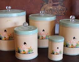 1930s canister set etsy