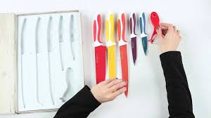 Swiss Kitchen Knives Swiss Q Ceramic Coated Knife Set Youtube