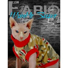 cat sweater sphynx cat sweater clothes handmade sock monkey inspired theme sphy