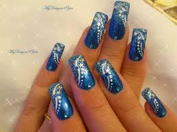 winter new year s blue nails nail art gallery nailartgallery