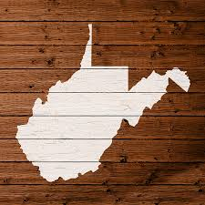 Map Of Wv Map Of West Virginia State Outline White Distressed Paint On