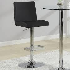 Adjustable Bar Stool With Back Coaster Contemporary Adjustable Bar Stool With Roll Back In Black