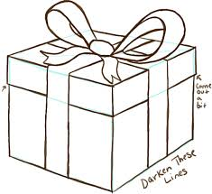 bows for gift boxes how to draw a wrapped gift or present with ribbon and bow how to