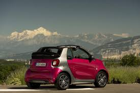 smart car pink smart fortwo cabrio electric drive autotest en specificaties