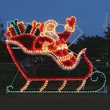 multi function christmas lights shop lighting specialists 12 2 ft animated sleigh outdoor
