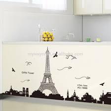 paris eiffel tower wall sticker home decor paris eiffel tower