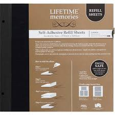 self adhesive photo album pages lifetime memories self adhesive refill sheets economy 275 x 300