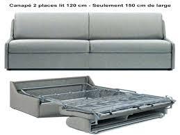 canapé convertible 120 cm de large canape convertible 120 cm lit 2 places ikea canapac banquette de