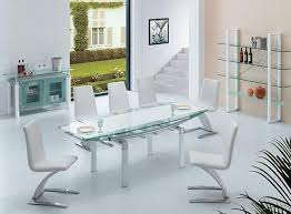 furniture modrest modern black dining table with glass top