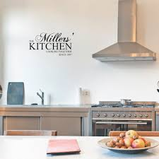 Wall Stickers For Kitchen by Kitchen Wall Art Your Last Name Kitchen Cooking Together Since