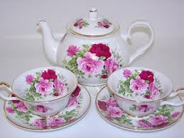 roses tea set summertime tea set bone china made in by sheltonian