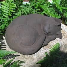 concrete cat statue wayfair