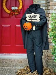 Halloween Home Decorations To Make by My 14 Inexpensive Projects For Halloween 3 Headless Door Greeter