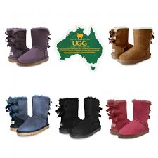 ugg boots australia genuine australian sheepskin two ribbon boots ozwear connection