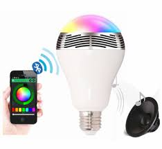 led light bulb speaker smart led light bulb with app control and bluetooth speaker j y