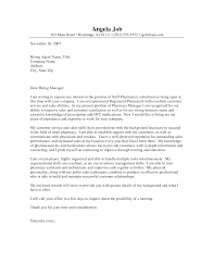 sample cover letter pharmacist gallery cover letter ideas